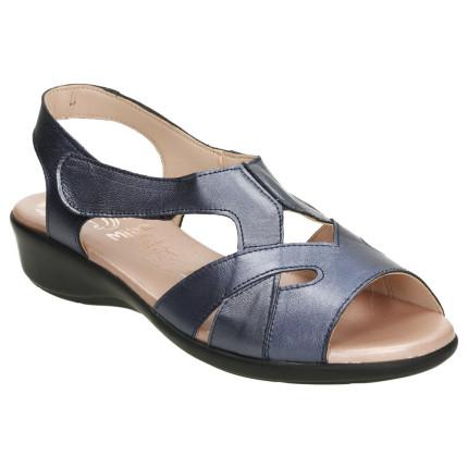 Sandalias azules con tonos...