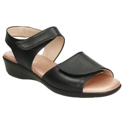 Sandalias negro con dos...